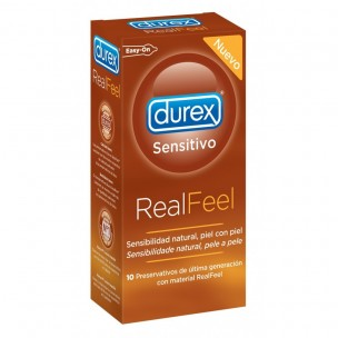 Durex Sensitivo Real Feel Sin Látex (10 ud.)
