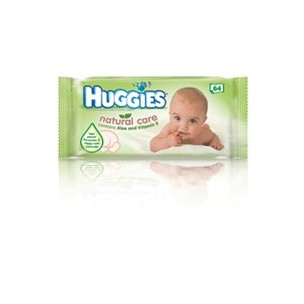 Huggies Natural Care Pack toallitas Húmedas (64 uds cada paq.)