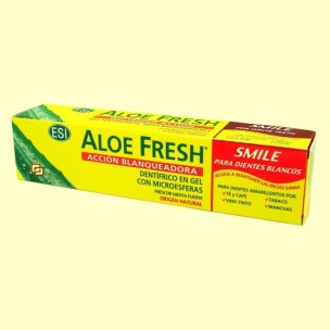 Gel dentífrico Aloe Fresh Smile Acción Blanqueadora (100ml)