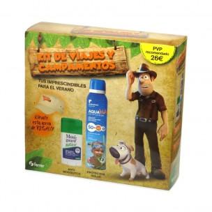 Ferrer Kit de Viaje y Campamento Tadeo Jones (Protextrem Aqua Kids+ Mosiguar Barra+ gorra)