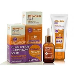 Sesderma Repaskin Mender Serum + Repaskin solar facial SPF 50(serum 30ml+ solar 50 ml)