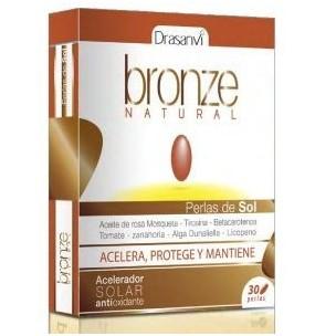 Drasanvi Bronze perlas del sol Natural (30 perlas)