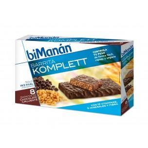 Bimanan Barritas Chocolate Crujiente (8 ud.)