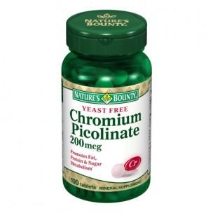 Tongil Picolinato de Cromo Nature' s Bounty (100 compr.)