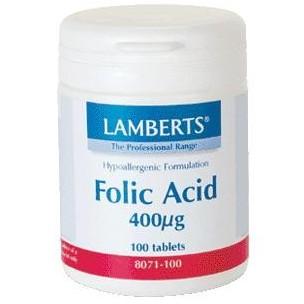 Lamberts Ácido Fólico (100 cap. de 400 mcg.)