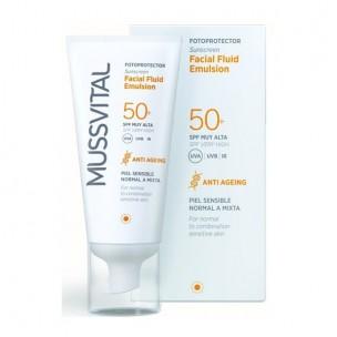 Mussvital Fotoprotector Facial Fluido Emulsión Color Spf 50+(50ml)