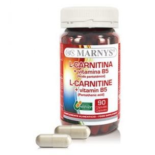 Marnys L-Carnitina+Vitamina B5 (90 cáp. vegetales)