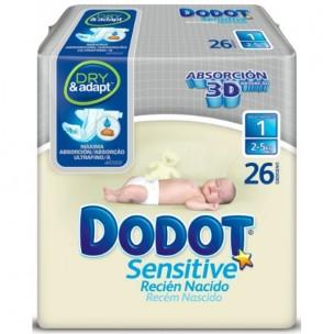 Pañales Dodott Sensitive Talla 1 de 2-5 Kg