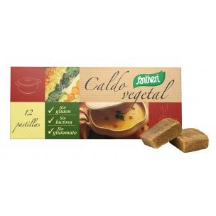 Caldo Vegetal Sin gluten, Sin lactosa Santiveri (12 pastillas)