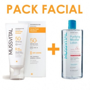 Pack Facial Mussvital SPF 50+ (50ml)