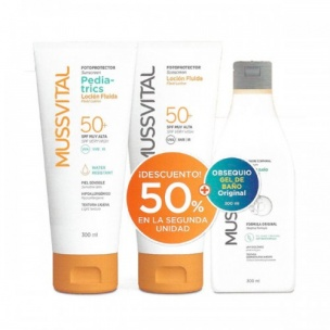 Pack Solar Familiar Mussvital (300ml)