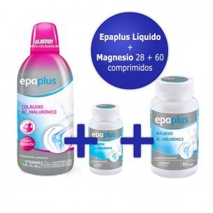 Pack Epaplus Colágeno Líquido+Epaplus Magnesio comprimidos 28+60