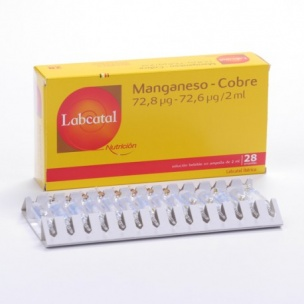 Labcatal 12  Manganeso-Cobre (28 ampollas de 2 ml)