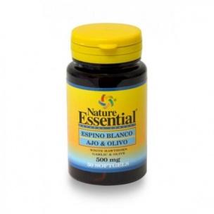Nature Essetial Espino Blanco, Ajo y Olivo (50 perlas de 500 mg.)