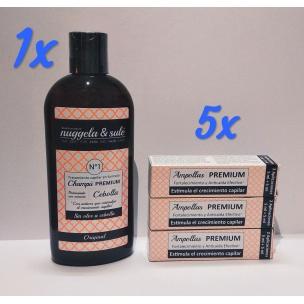 Champú Cebolla + Ampolla Premiun Anticaída Nuggela & Sulé (250ml + 10 ml x 5unds)