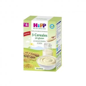 Papilla 3 Cereales Bio Sin Gluten Hipp (400gr)