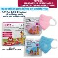 Mascarilla desechable infantil FFP2 NR ( 1 unid)