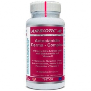 Antocianidin derma-complex de Airbiotic (30 cáps.)