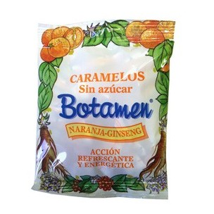 Botamen Caramelos Sin Azúcar/ Sin gluten Naranja-Ginseng