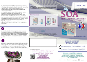 Información sobre Silicio SOA